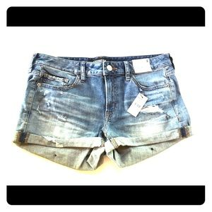 Express shortie relaxed low rise shorts